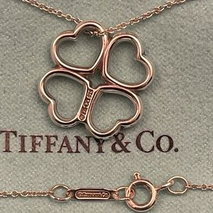 💎HOST PICK💎Authentic Tiffany & Co. 4 Heart Clover Pendant Necklace